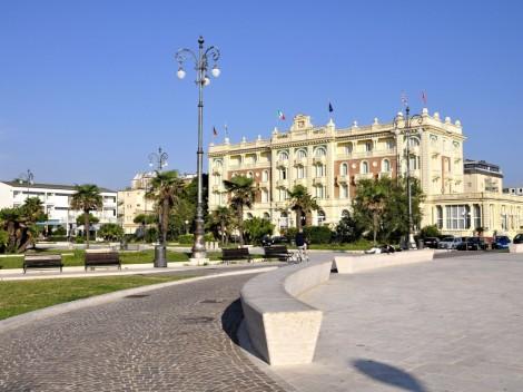 Grand hotel v městě Cesematico