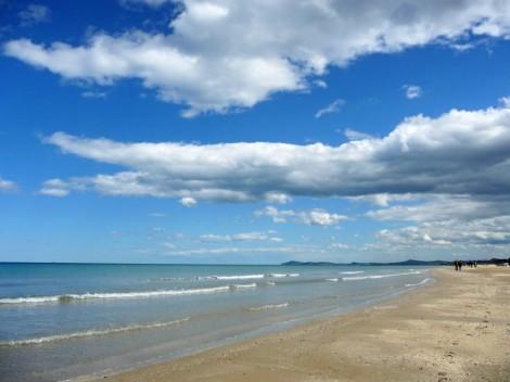 Trocha klidu na pláži v Rimini