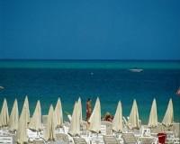 Riccione Lehátka na pláži