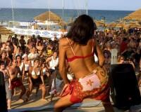 Riccione Tanec na pláži